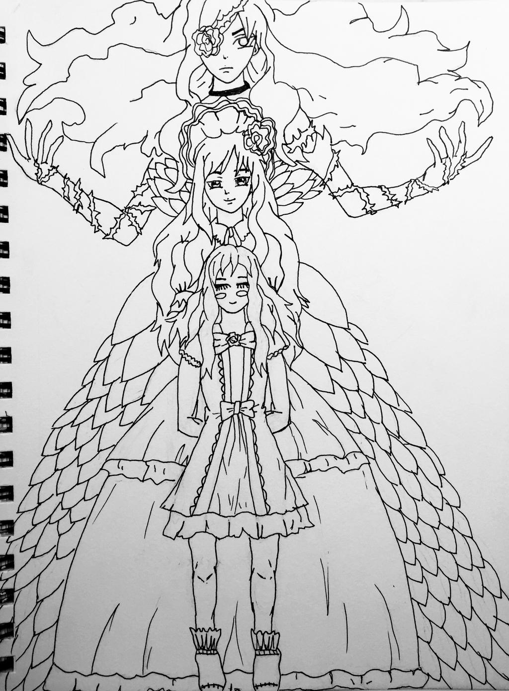 Fairy Tail Michelle Lobster AKA Imitatia Outline By MadE14