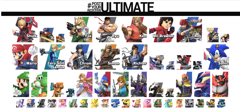 Ultimate Smashing Mains by HelizukeWolfknight