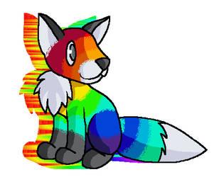 Rainbow Fox by mom1995577