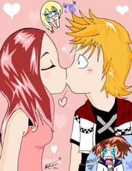 Kairi and ...Roxas? by Gerardwayobsessed