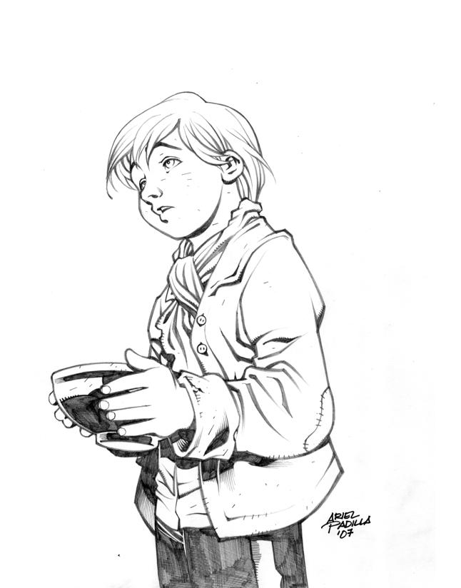 oliver twist coloring pages - photo#24