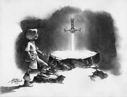 The Sword in the Stone by arielpadilla