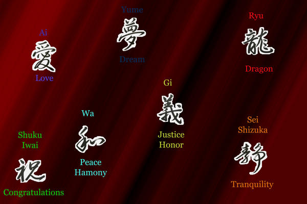 Kanji Characters by Dragonthian