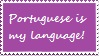 Portuguese Speaker stamp free use by mariforalltmnteterna