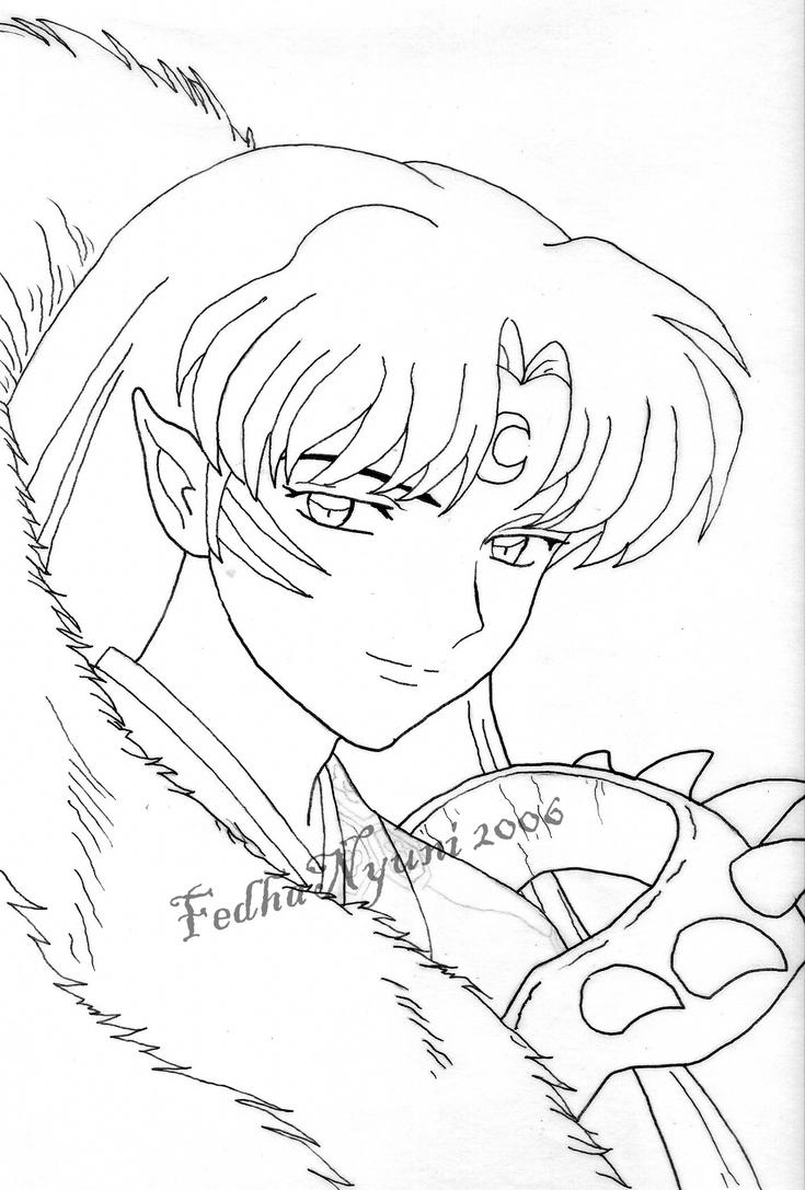 sesshoumaru coloring pages - photo#32