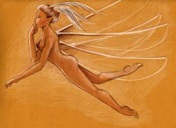 Flying fairy by AquilegiaNox