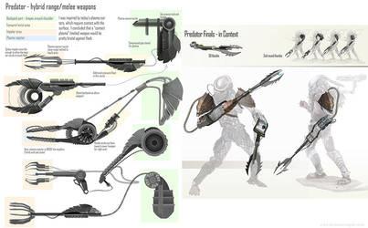 Predator Weapon design thumbnails by Zirngibl