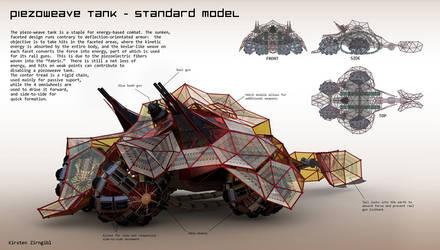 Piezoweave Tank by Zirngibl