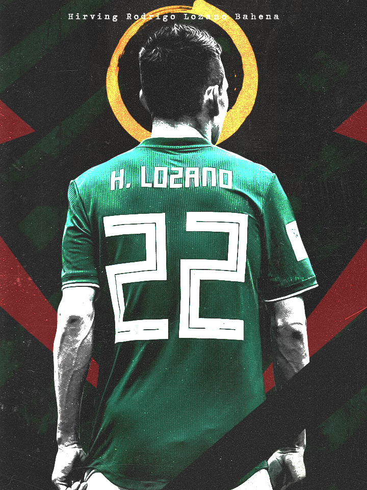 more photos b1ac4 47659 Hirving Lozano - Mexico National Team Wallpaper by ...
