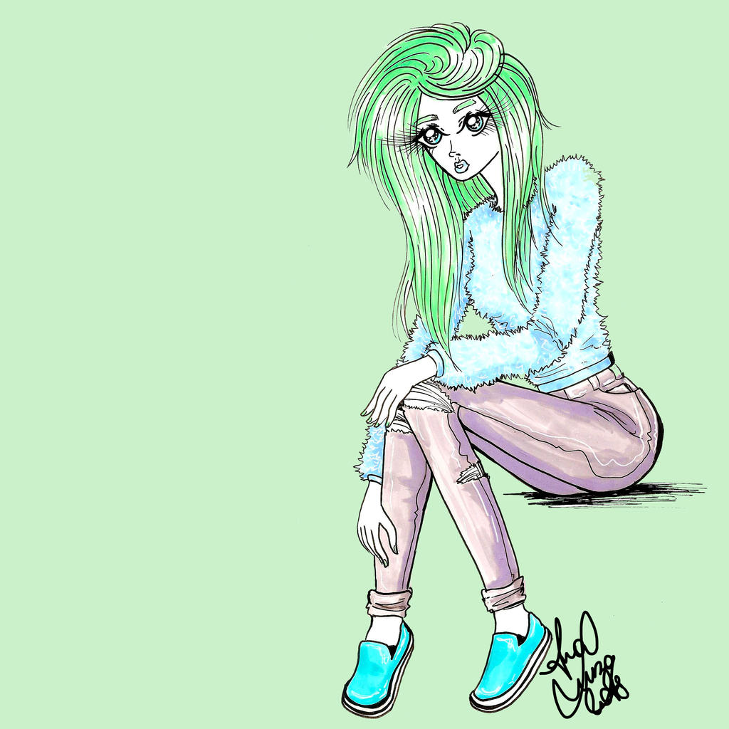 Mint is her fave color by analubelico