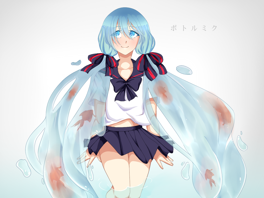 Bottle Miku - SPEED PAINT ADDED! by saeriin