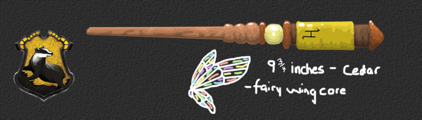 HP Wand Design: Helga Hufflepuff's Wand by PocketPixelArt ...