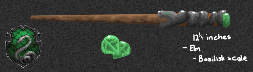 HP Wand Design: Salazar Slytherin's Wand by PocketPixelArt ...