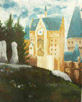 Hogwarts Painting by PocketPixelArt