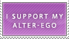 Support alter-ego stamp by Lisandra99