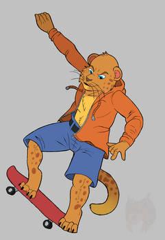 Skateboarding Hunter
