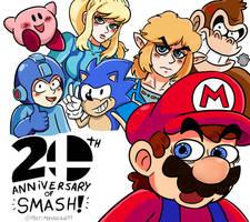 20 Years of Smash Bros! by PencaComics