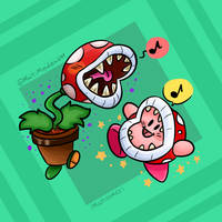 Kirby's new friend (Smash bros Ultimate) by PencaComics