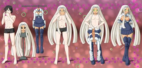 Commission from Explodeprinny - Saphire BodySuit by The-Dark-Mangaka