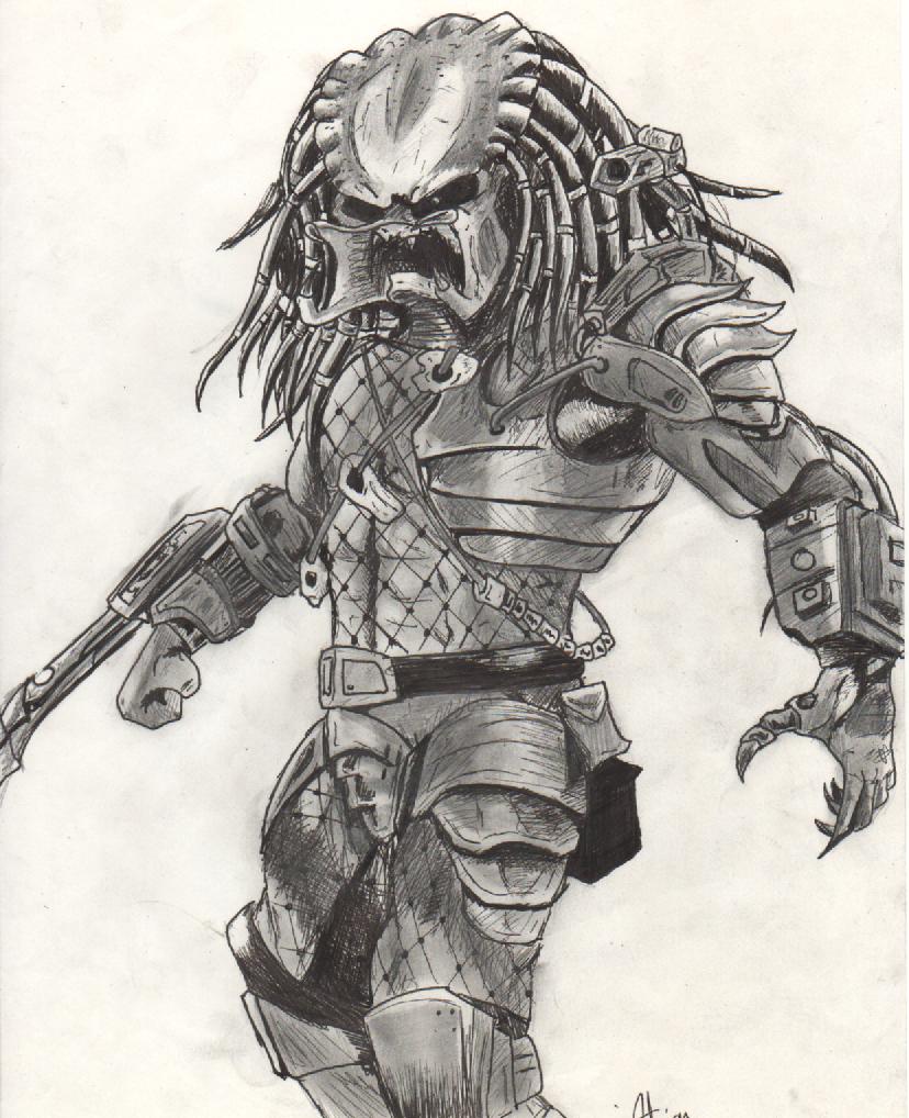 Predator without mask by Eisaz on DeviantArt