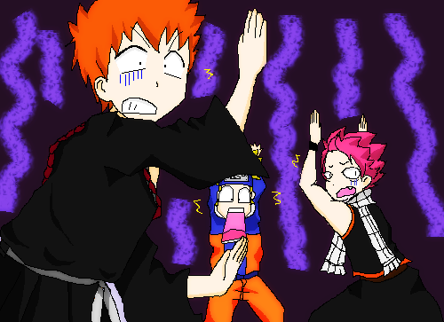 Anime Crossover Bleach Fairy Tail And Naruto By 0Eka0 On