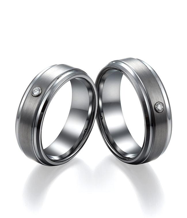 7MM Brushed Tungsten Wedding Bands Set With Zircon By TungstenRepublic ...