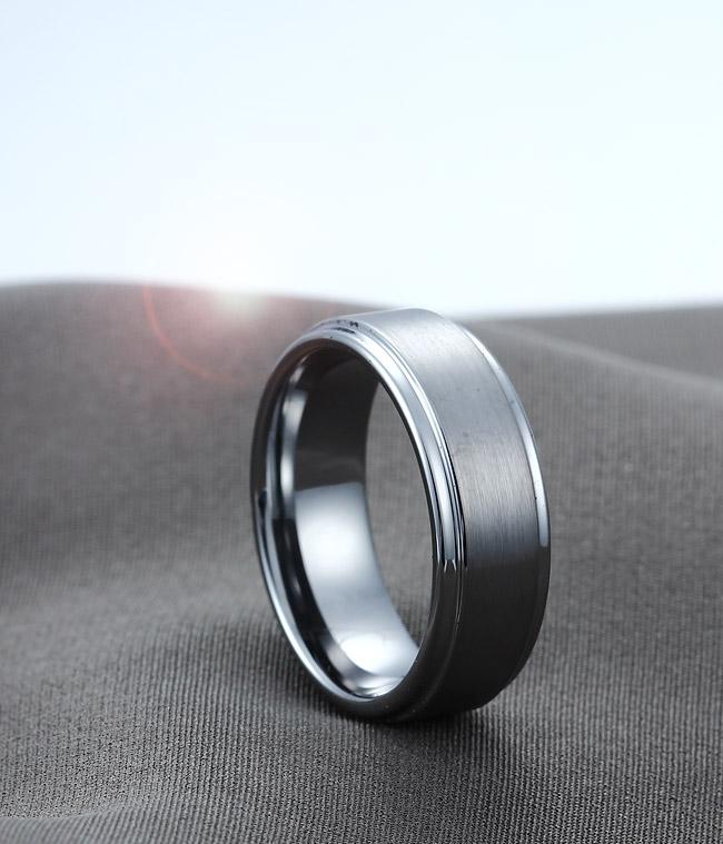 Tungsten Carbide Mm Silver Tone Celtic Dragon Ring Green