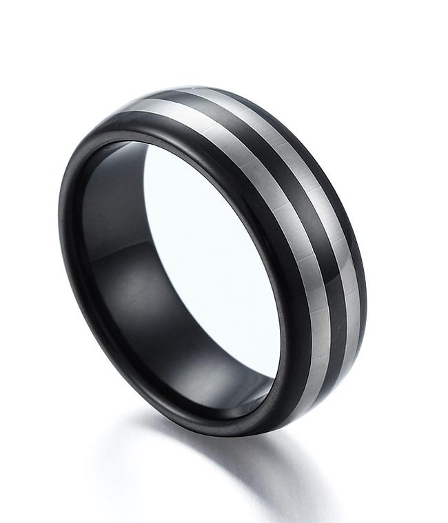 Tungsten Ring Black Celtic Dragon Blue Carbon Fibre Female