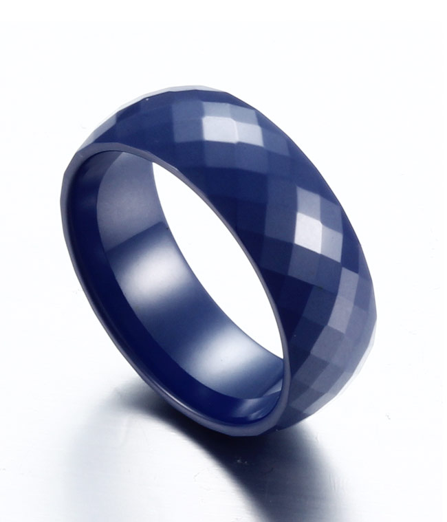 Multi Faceted Blue Ceramic Ring For Men And Women By TungstenRepublic On DeviantART