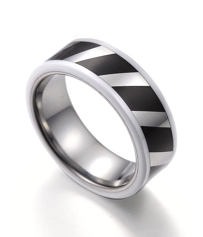 Black Tungsten Carbide Rings