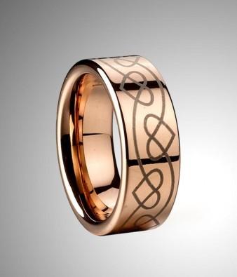 Tungsten Wedding Ring Gold Inner Band Australiua