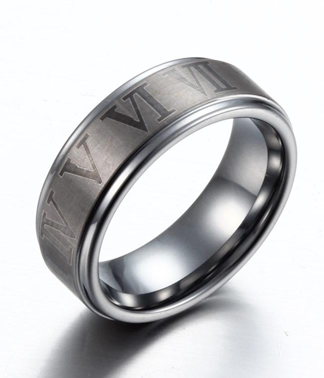 Mens Titanium Ring With Cross