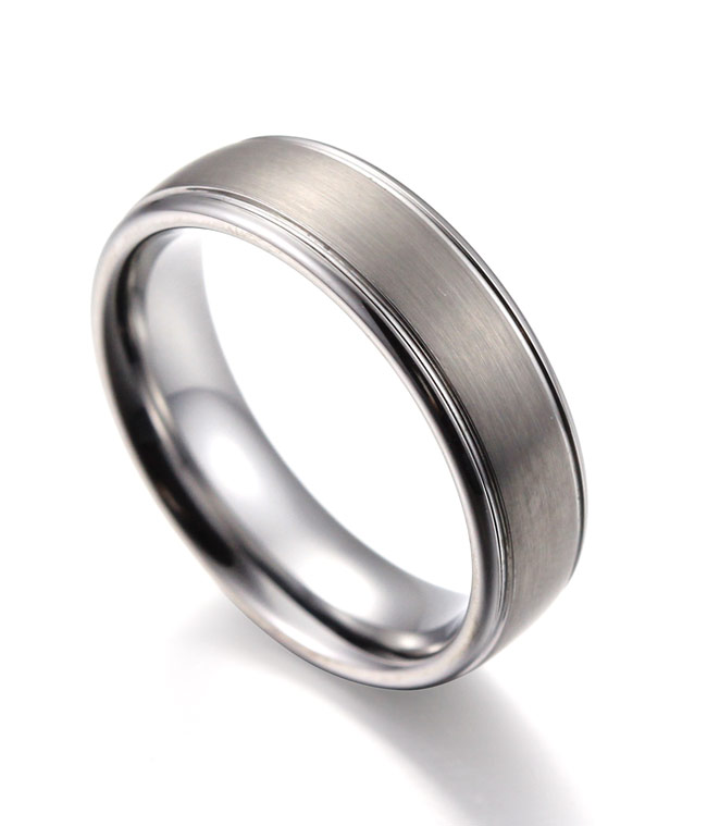 Tungsten Carbide Ring In Checkered Flag Race Car Displays
