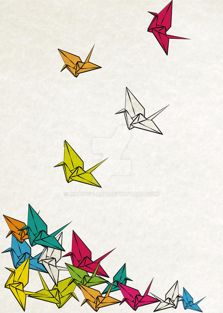 Cranes Origami By MaNoU56
