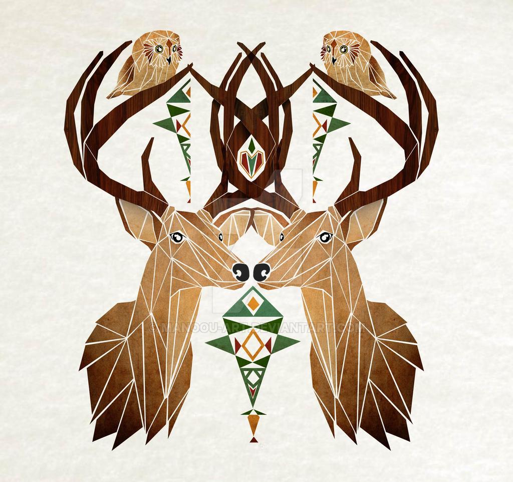 deer owl by MaNoU56