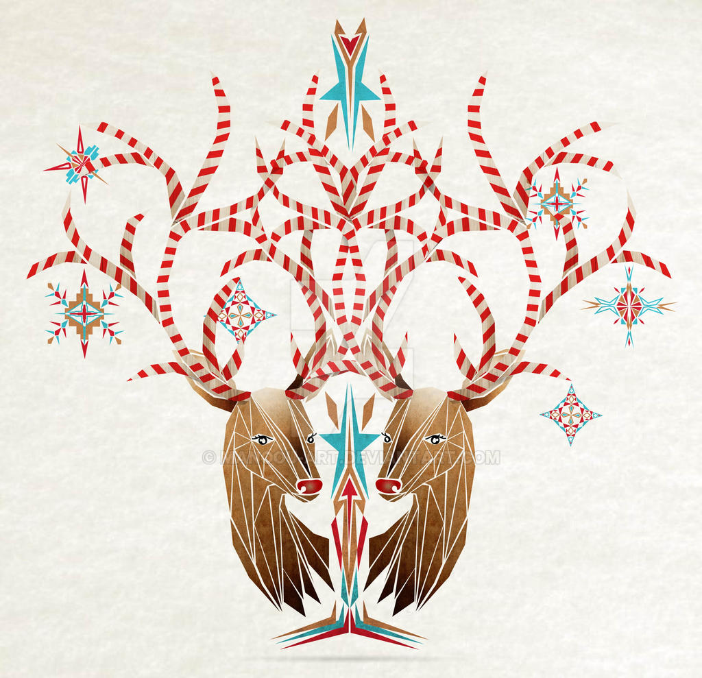 christmas deer by MaNoU56 on DeviantArt