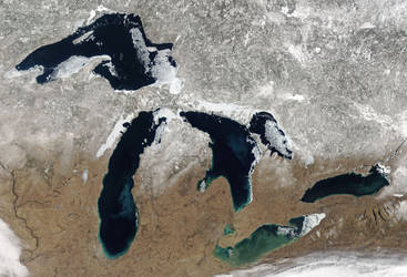 The Great Lakes, Spring Thaw by Earth-Hart
