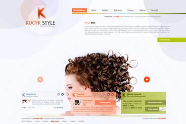 Corporate Website Kucyk Salon Fryzjerski by kqubek by kqubekq