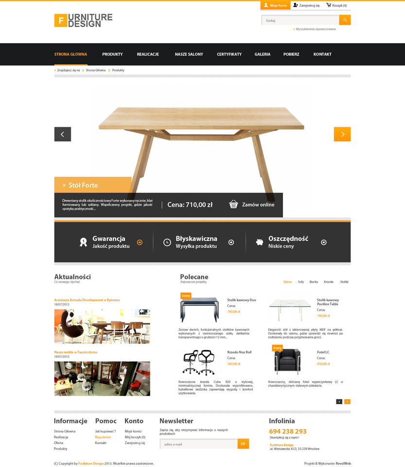 Simple Corporate Webdesign Furniture V1 By Kqubekq ...