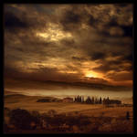 evening fog...