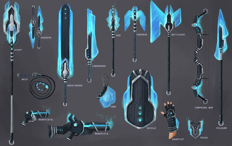 Manashard weapon set by jnetrocks scraps 2012 2015 jnetrocks new