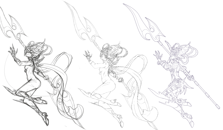 Aramina Shock Sketch by JNetRocks