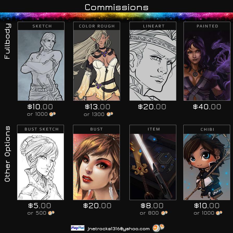 JNetRocks Commission Info by JNetRocks