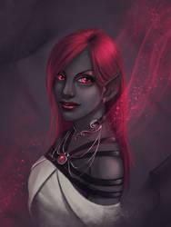 COM:  Crimson Gaze by JNetRocks