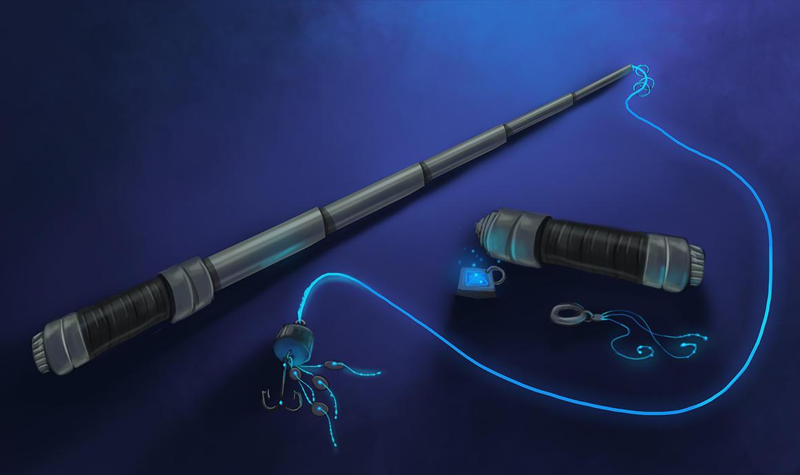 Com telescopic fishing rod by jnetrocks on deviantart for Fishing poles wow
