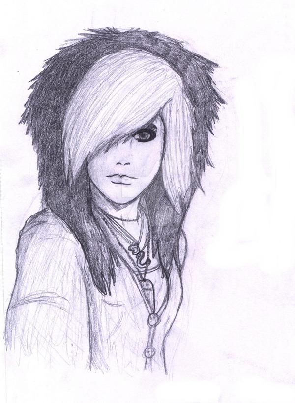 Emo girl sketch by starlight679