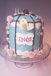 Ines bird cage cake by ClaireCastle