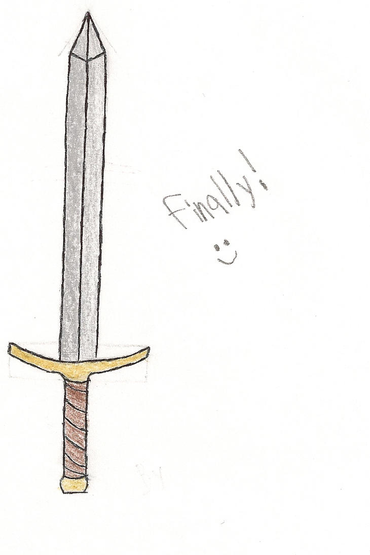 how to draw a cool sword