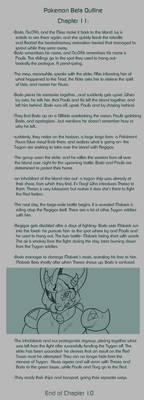Pokemon Beta Ch.11 Summary