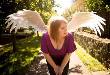 Giant felt wings